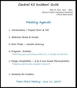 May CKKG Agenda