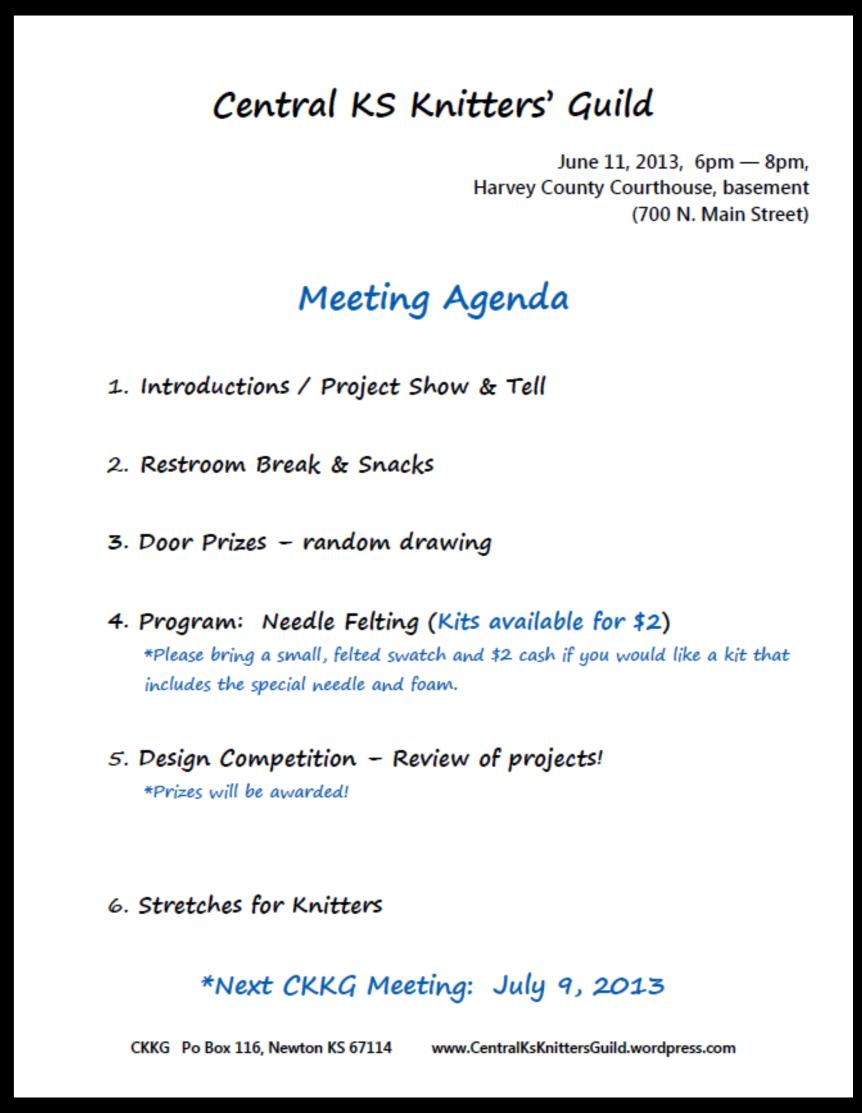 June CKKG Agenda