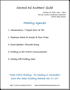Oct agenda