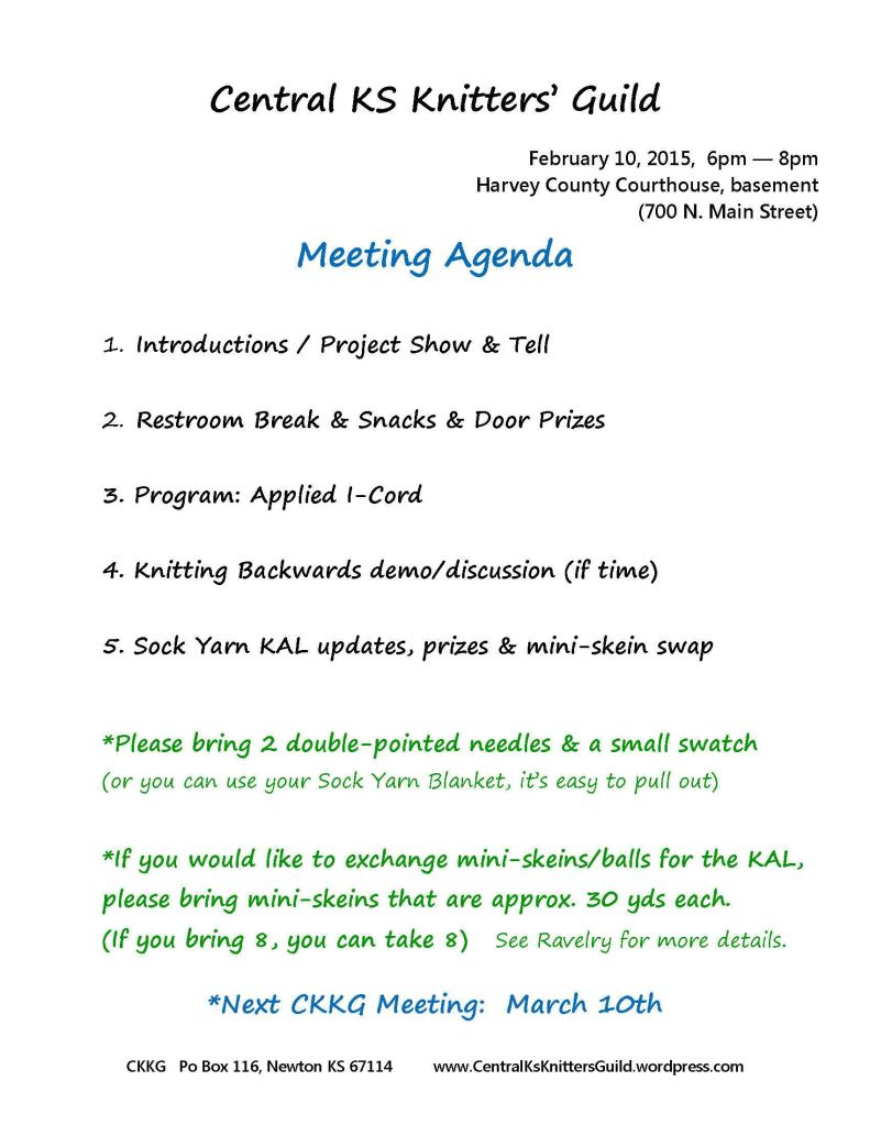 Agenda Feb 2015