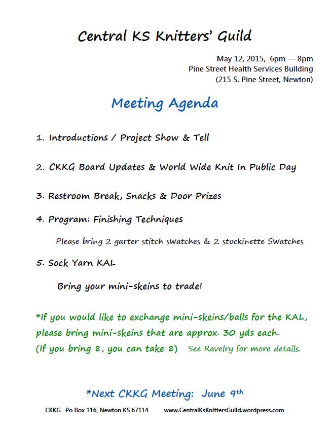 may agenda